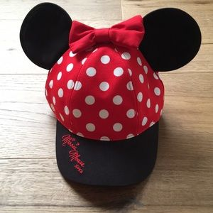 Girls Minnie Mouse Baseball Cap